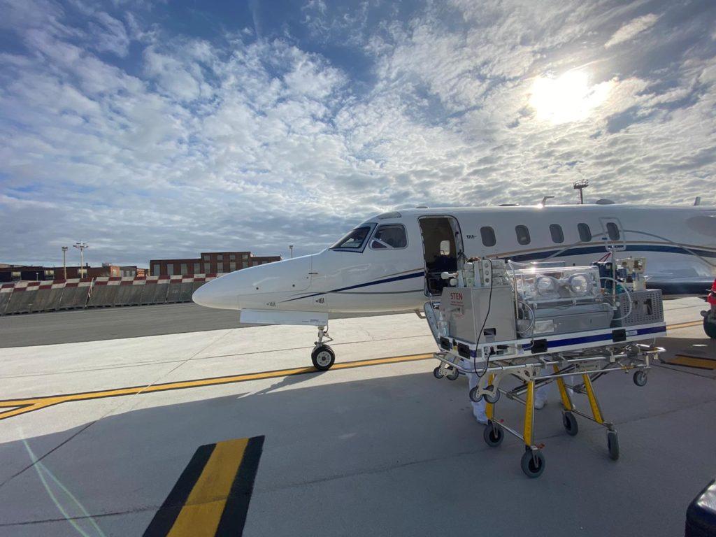 trasferimento malati con aeroambulanza